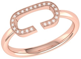Lmj Celia C Ring In 14 Kt Rose Gold Vermeil On Sterling Silver