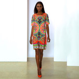 Marc Bouwer Hybrid Short Sleeve Dress Coral