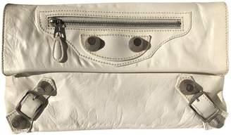 Balenciaga Envelop White Leather Clutch bags