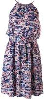 GUESS Womens Halter Printed Casual Dress Multi 12