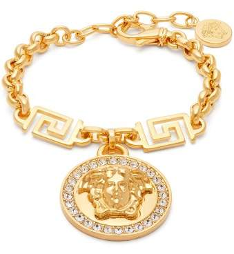 Versace Medusa Charm Chain Link Bracelet - Womens - Gold