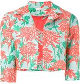P.A.R.O.S.H. floral brocade cropped jacket - women - Silk/Polyamide/Polyester - XS