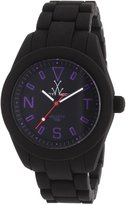 Toy Watch ToyWatch Women's Velvety Black Dial Black Silicone