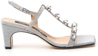 Sergio Rossi SR1 60mm Embellished Sandals