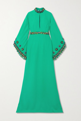 Andrew Gn Embellished Crepe Gown - Green
