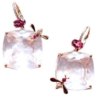 Sharon Khazzam Bee 18K Rose Gold, Rose Quartz & Multi-Stone Drop Earrings