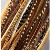 "SEXY SPARKLES Feather Hair Extension Beautiful Natural Remix 6""-12"" Feathers for Hair Extension Includes 2 Silicon Micro Beads."