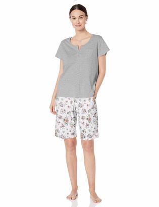 Karen Neuburger Women's Petite Top and Bottom Pajama Set Pj with Sweat Wicking Technology