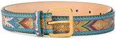 Etro paisley pattern belt