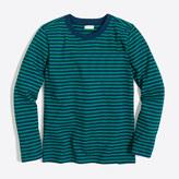 J.Crew Factory Boys' long-sleeve striped slub cotton T-shirt