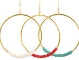 Nugaard Designs Leather Hoop Earrings