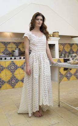 Luisa Beccaria Luna'S Eyelet Cotton Maxi Dress