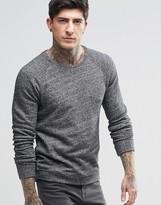 Scotch & Soda Sweatshirt In Black Marl