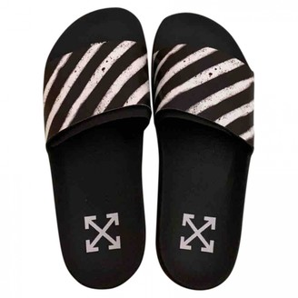 Off-White Black Rubber Sandals