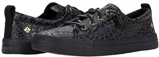 Sperry Crest Vibe Animal Print Textile (Black/Black) Women's Shoes