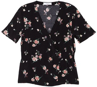 Elodie K Short Sleeve Side Button Blouse