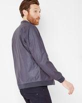 RYDER Coated linen bomber jacket