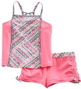Free Country Girls 7-16 Tankini Top & Cinched Shorts Swimsuit Set