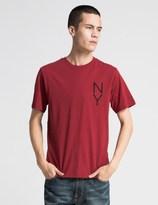 Saturdays Nyc Deep Red Vertical NY T-Shirt