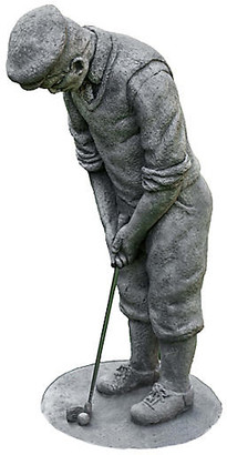 "Campania International 23"" Classic Golfer Outdoor Statue - Graystone"