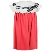Fendi FendiGirls Pink Crepe Threaded Ribbon Dress