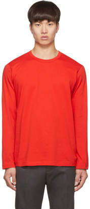 Comme des Garcons Red Logo Long Sleeve T-Shirt