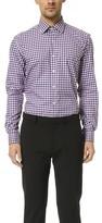 Culturata Point Collar Mini Plaid Shirt