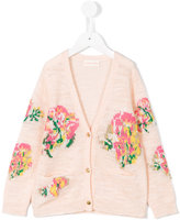 Simple floral cardigan - kids - Cotton/Acrylic/Polyester/Metallized Polyester - 6 yrs