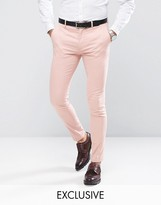 Only & Sons Super Skinny Trousers In Cotton Sateen