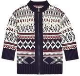 Burberry Girls' Tesino Fringe Zip-Up Cardigan Sweater - Little Kid