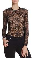 Olivaceous Lace Long-Sleeve Bodysuit
