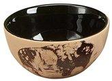 "StealStreet SS-UG-TCD-856 5.5"" Bison with Wood Scene Ceramic Bowl, Black/Brown"