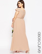 Asos WEDDING Maxi Dress With Lace Back
