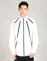 Still Good White Osmose Over Zip Up Shirt