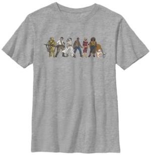 Star Wars Big Boys Resistance Cartoon Lineup Short Sleeve T-Shirt