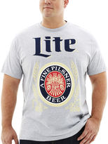 JCPenney Novelty T-Shirts Miller Lite Graphic Tee-Big & Tall