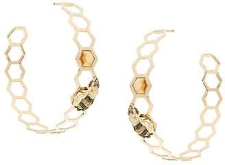 Delfina Delettrez Geometric Bee Earrings