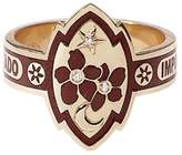 Foundrae Bordeaux Blossom Cigar Band Ring