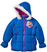 Disney Disney's Frozen Girls 4-6x Anna & Elsa Faux-Fur Trim Midweight Puffer Jacket