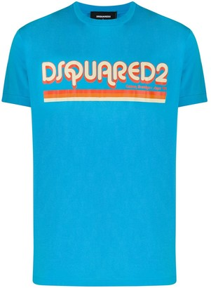DSQUARED2 retro logo print T-shirt