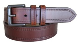 Lejon Men's Double Haul Oil Tanned Harness Leather Casual Jean Belt