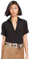 Polo Ralph Lauren Silk Wrap Blouse