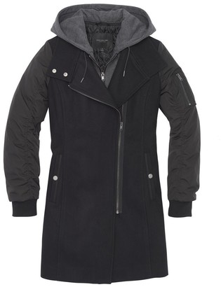 Andrew Marc Rowan Mixed Media Wool Coat
