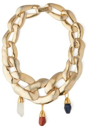 Marni Stone-embellished Chain Necklace - Womens - Gold