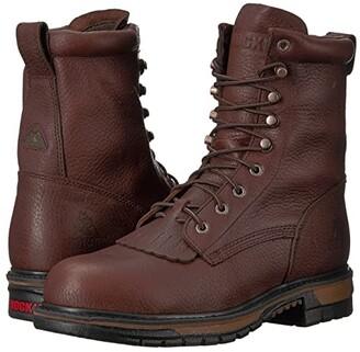 Rocky 8 Original Ride Steel Toe WP (Dark Brown) Men's Work Boots