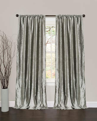 Triangle Home Fashion Velvet Dream Silver Bells Window Curtain Set