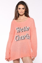 Wildfox Couture Charlie! Ringo Sweater in Coral