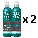 BedHead TIGI Bed Head Urban Anti-dote Recovery DOUBLE DUO (2) Shampoo & (2) Conditioner Duo Damage Level 2 (25.36oz)
