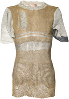 Vivienne Westwood Intellectual jumper - unisex - Silk/Cotton/Linen/Flax/Metallic Fibre - L/XL