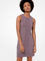 Michael Kors Mixed Print Matte-Jersey Dress